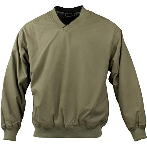 (Rivers' End Mens Lined Microfiber Windshirt Athletic Jacket Tan XLT)