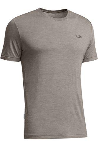 Icebreaker Merino Men's Sphere Lightweight Short Sleeve Crew Neck Shirt, New Zealand Merino Wool, Trail HTHR, Medium