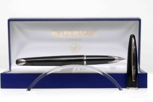 WATERMAN-Carene-Deluxe-Fountain-Pen-with-Medium-solid-gold-nib-and-blue-ink-S0699940