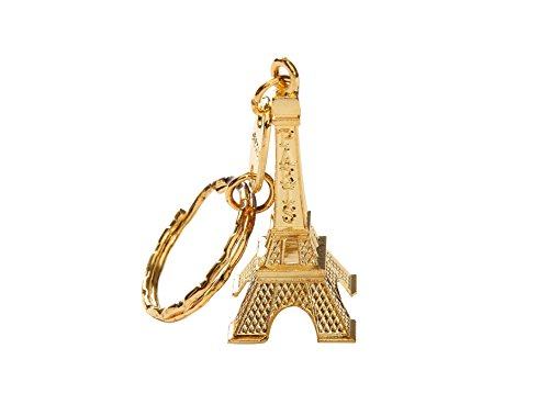 12pcs/lot 3d Eiffel Tower French Souvenir Paris Keychain Cute Adornment Keyring (Gold)