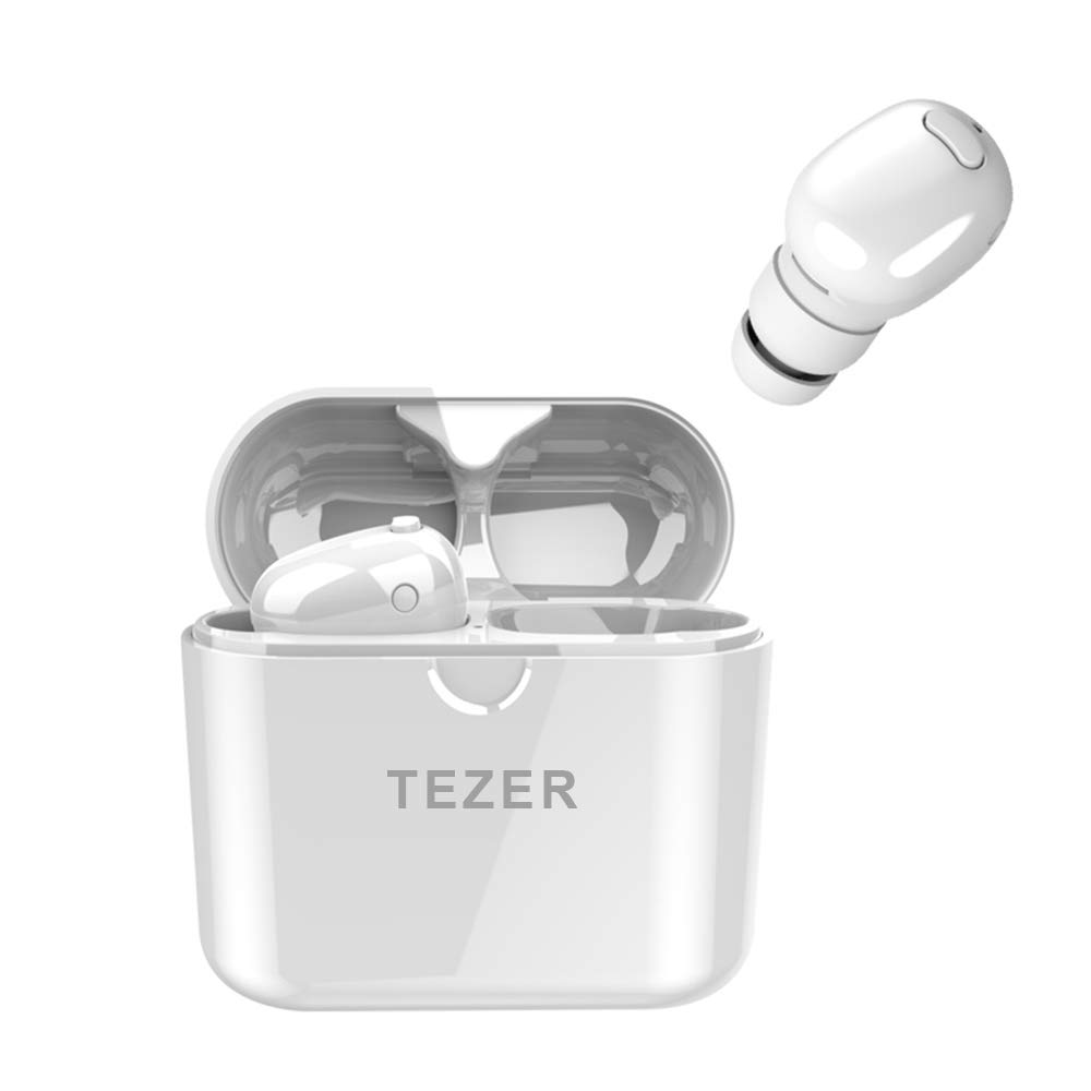 Wireless Earbuds TEZER X20 Bluetooth 5.0 True Wireless Headphones IPX5 Automatic Connection 15H Playtime Hi-Fi Stereo with Built-in Mic and Charging Case for Travelling and Exercise (White) Shenzhen Rockefeller Investment Development Co. Ltd.