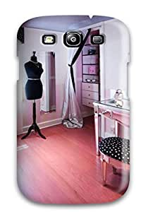 Wael alamoudi's Shop Lovers Gifts New Arrival Dressing Room With Pink Wood Floor 038 Dressmaker8217s Mannequin For Galaxy S3 Case Cover