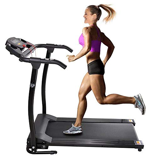 CRAZO Folding Electric Treadmill 1100W -Portable Power Motorized Machine Running Jogging Gym Fitness
