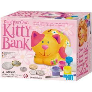 - Toy / Game 4m Paint Your Own Kitty Bank With Instructions, Paint And Brush - A Great Gift Idea Or Keepsake