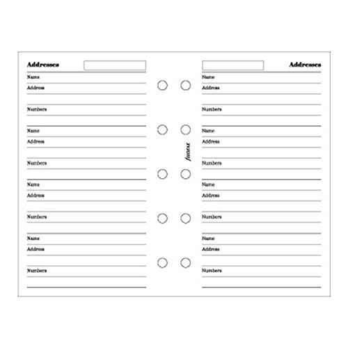Filofax Mini Name/Address/Phone Sheets Binder (B510201)
