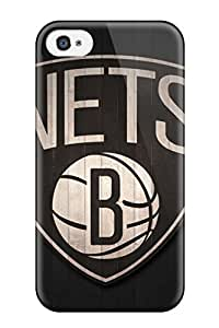 For Iphone 4/4s Premium Tpu Case Cover Brooklyn Nets Nba Basketball (16) Protective Case