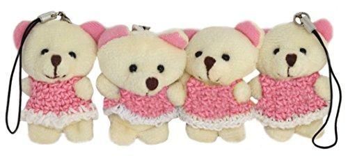 lucore-mini-2-white-bear-plush-stuffed-animal-toy-charms-4-pcs-phone-purse-decorations-w-dust-plugs