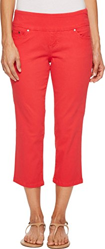 Jag Jeans Women's Petite Peri Straight Pull on Crop, Hibiscus 8P