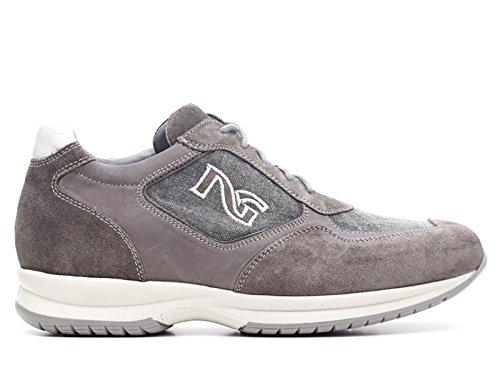 NERO GIARDINI P603950U 122 Zapatillas de deporte SUEDE / CUERO / PIEDRA DE LA LONA P6 03950 U