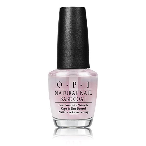 OPI Nail Lacquer Base Coat, Natural Nail, 0.5 fl. oz. (Best Glitter Top Coat)