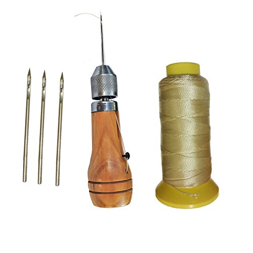 - Swift Quick Hand Sewing Awl Leather Canvas Repair Saddles Coat Seat Stitcher Kit 4 Needles 180 yards Thread DIY Craft Leathercraft