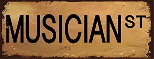 Music Musician Street Metal Sign Childrens Room Decor Children/'s Room Decor Homebody Accents HB7638 Bar Decor Den decor