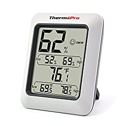 ThermoPro TP50 Hygrometer Thermometer Indoor Humidity Monitor with Temperature Gauge Humidity Meter from ThermoPro