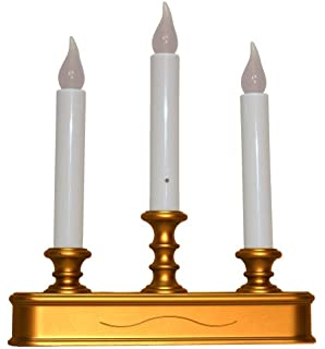 good tidings led 3 tier window christmas candle holder with sensor antique finish - Christmas Candle Lights For Windows