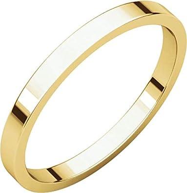 10k White Gold 2mm Flat Band
