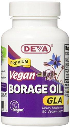 Deva Vegan Vitamins Borage Oil 500 Mg Vcap, 90 Count