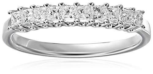 14k White Gold Princess-Cut Diamond Wedding Band (1/2cttw, H-I Color, I1-I2 Clarity)