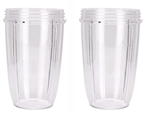 Preferred Parts NutriBullet Replacement Cups (Tall - 24-Once) | Premium NutriBullet Replacement Parts and Accessories (Pack of 2) - smallkitchenideas.us