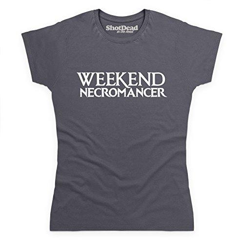Marengo Gris Camiseta Weekend Mujer Para Shotdeadinthehead Necromancer xqfwzc6