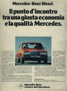 1981 MERCEDES-BENZ DIESELS: 200D/240D/300D/240TD/300TD/300TD TURBO-DIESEL LARGE COLOR AD - ITALIAN !!!