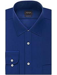 Arrow Men's Poplin Regular-Fit Solid Spread Collar Dress Shirt