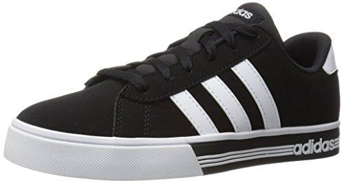 adidas Men's Shoes | Daily Team Fashion Sneakers, Black/White/Black, (7 M US)