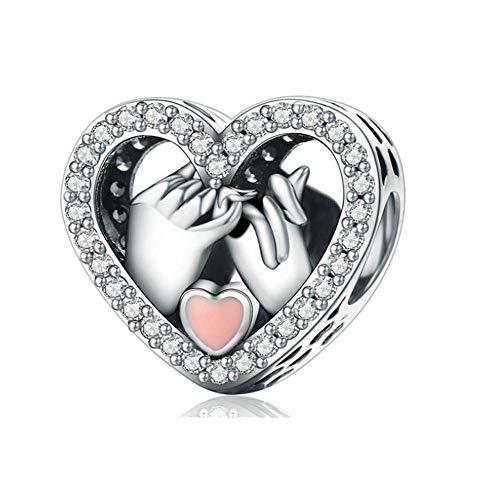 Annmors Mutter und Baby, 925 Sterling Silber Damen Perlen Charm mit 5A Zirkonia kompatibel für Pandora & europäische Armbänder