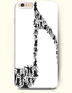 SevenArc Phone Case for iPhone 6 Plus 5.5 Inches with the Design of Music Note