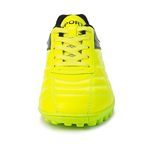 Barenun Kinder Herren Outdoor / Indoor Fußball Schuhe Fußball Training Cleat Schuhe Gelb