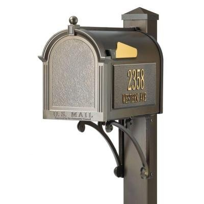 Superior Mailbox Post (Superior French Bronze Streetside Mailbox)
