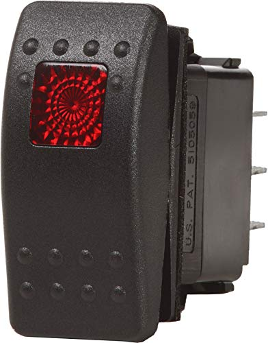 Blue Sea Systems Contura II OFF-ON SPST Switch, Black