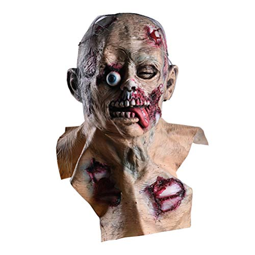 Xinjiahe Horror Mask Resident Evil Monster Mask Bloody Disgusting Rot Face Latex for Party Cosplay Masquerade ()