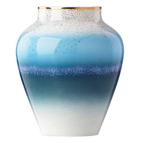 Lenox Seaview Blue/White/Gold Porcelain 7.25-inch Bouquet (Blue Porcelain Bouquet)
