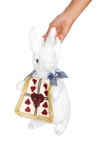 Leg Avenue Women's, Rabbit Purse White/Gold, One Size (Alice In Wonderland Trick Or Treat Bag)