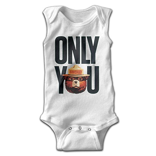 [BLUESPACE Smokey Bear Only You Baby Girls Boys Climb Jumpsuit 24 Months White] (Sims 3 Bear Costume)