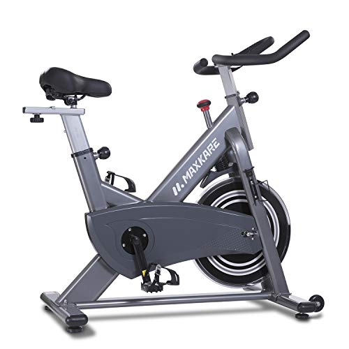 MaxKare Magnetic Exercise Bike,Stationary Bike Belt Drive,Spin Bike Indoor Cycling Bike,Gym Level with High Weight Capacity Adjustable Magnetic Resistance w/Tablet Holder (Gray (No Pulse Sensors))