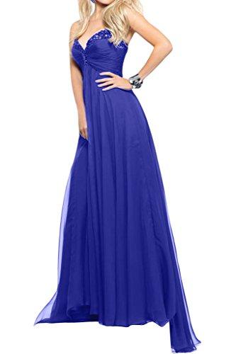 A Blau Promkleider Lang Neu La Royal Blau mia Abendkleider Pailletten Royal linie Braut Herzausschnitt Schoenes Partykleider Iqx1A0z4x