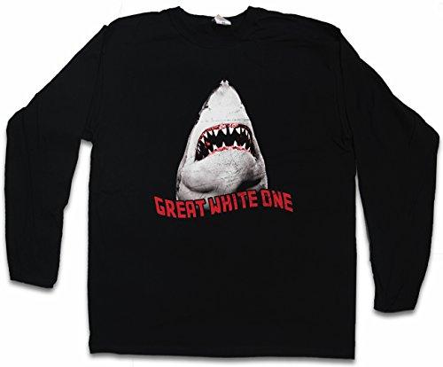 WHITE SHARK II T-SHIRT DE MANGA LARGA – tiburón jaquetón película Diver Tamaños Hawaii Maui Australia Attack Giant Monster Tiger Killer S – 5XL