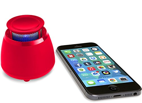 Wireless Bluetooth Speaker- BLKBOX POP360 Hands Free Bluetooth Speaker - for iPhones, iPads, Androids, Samsung and all Phones, Tablets, Computers (Rockin' Red)