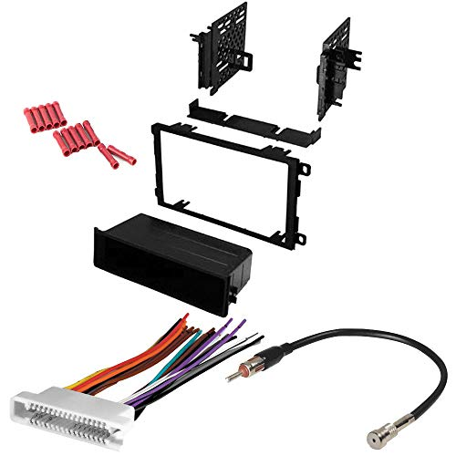 Radio Buick 95 Car - CACHÉ KIT34 Bundle with Complete Car Stereo Installation Kit Compatible with Buick Vehicles Listed Below - in Dash Mounting Kit, Wire Harness, Antenna Adapter for Double Din Radio Receiver (4 Item)