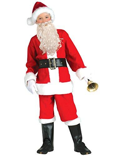 Child Santa Beard (Rubie's Childrens Flannel Santa Suit with)