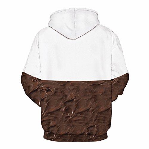 NEWCOSPLAY Unisex Realistic 3D Digital Print Pullover Hoodie Hooded Sweatshirt (S/M, nutella)