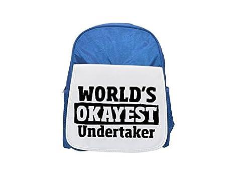 Mochila Okayest Undertaker azul estampada para niños, mochilas lindas, mochilas pequeñas bonitas, mochila