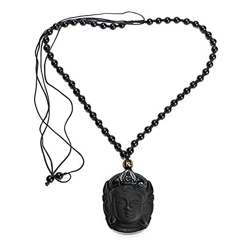 - TenDollar Pendants Pendant For Women Amulet Natural Obsidian Necklace Black Carved By TenDollar