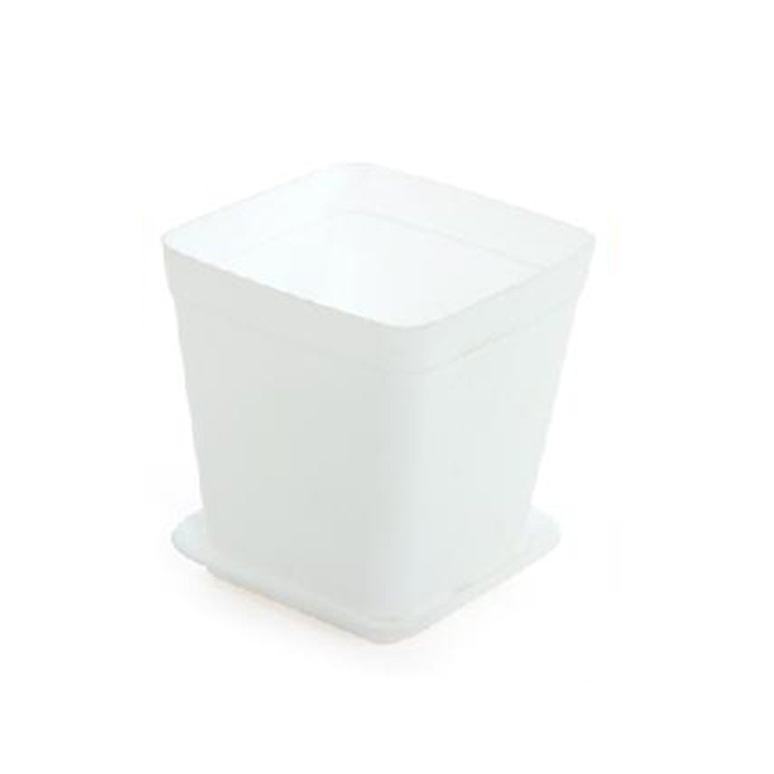 6 Pcs Colorful Flower Pot Square Plastic Planter Nursery Garden Desk-White