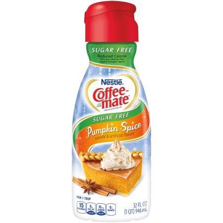 COFFEE-MATE, Pumpkin Spice, Sugar Free, Liquid Coffee Creamer, 32oz. (Pack of 2) by Coffee-mate