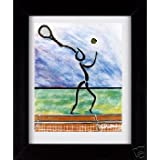 Tennis Guy - Sports Framed Art Print
