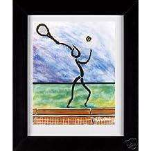 Tennis Guy - Sports Framed Art Print