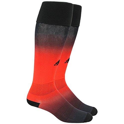 adidas Metro IV Soccer Socks, Black/Red/White, (Black Red White)