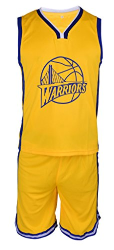 new style b2bea eeb92 Steph Curry Jersey Kids Basketball Yellow Curry Jersey ...